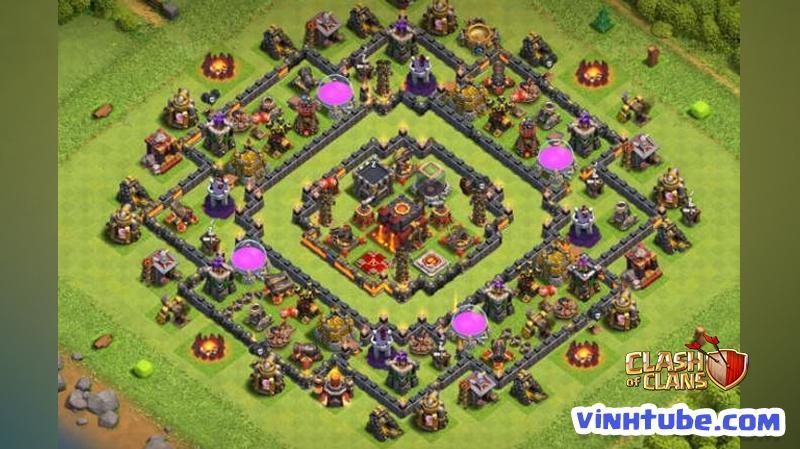 Update mẫu Base TH10 Thủ Tài Nguyên, WAR, Bay Cup TITAN | CLash of Clans