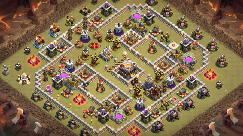 Base TH11 thủ War, Bay Cup HUYỀN THOẠI Clash of Clans