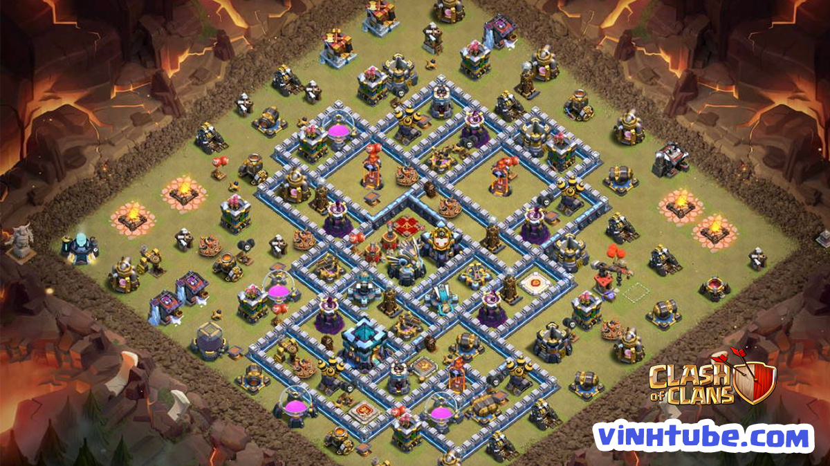 Base Town Hall 13 bay cup Legend – WAR BASE CHỐNG YETI hiệu quả | Clash of Clans
