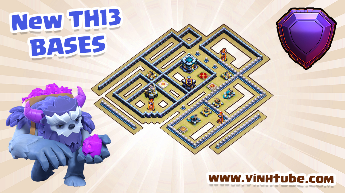 NEW BASE TH13 chống 3 sao BAY CUP HUYỀN THOẠI | Clash of Clans 2020