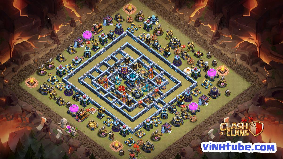 Base TH13 BAY CUP THỦ WAR LEAGUE đối thủ cũng phải BÓ TAY   Copy Base Link TH13   Clash of Clans
