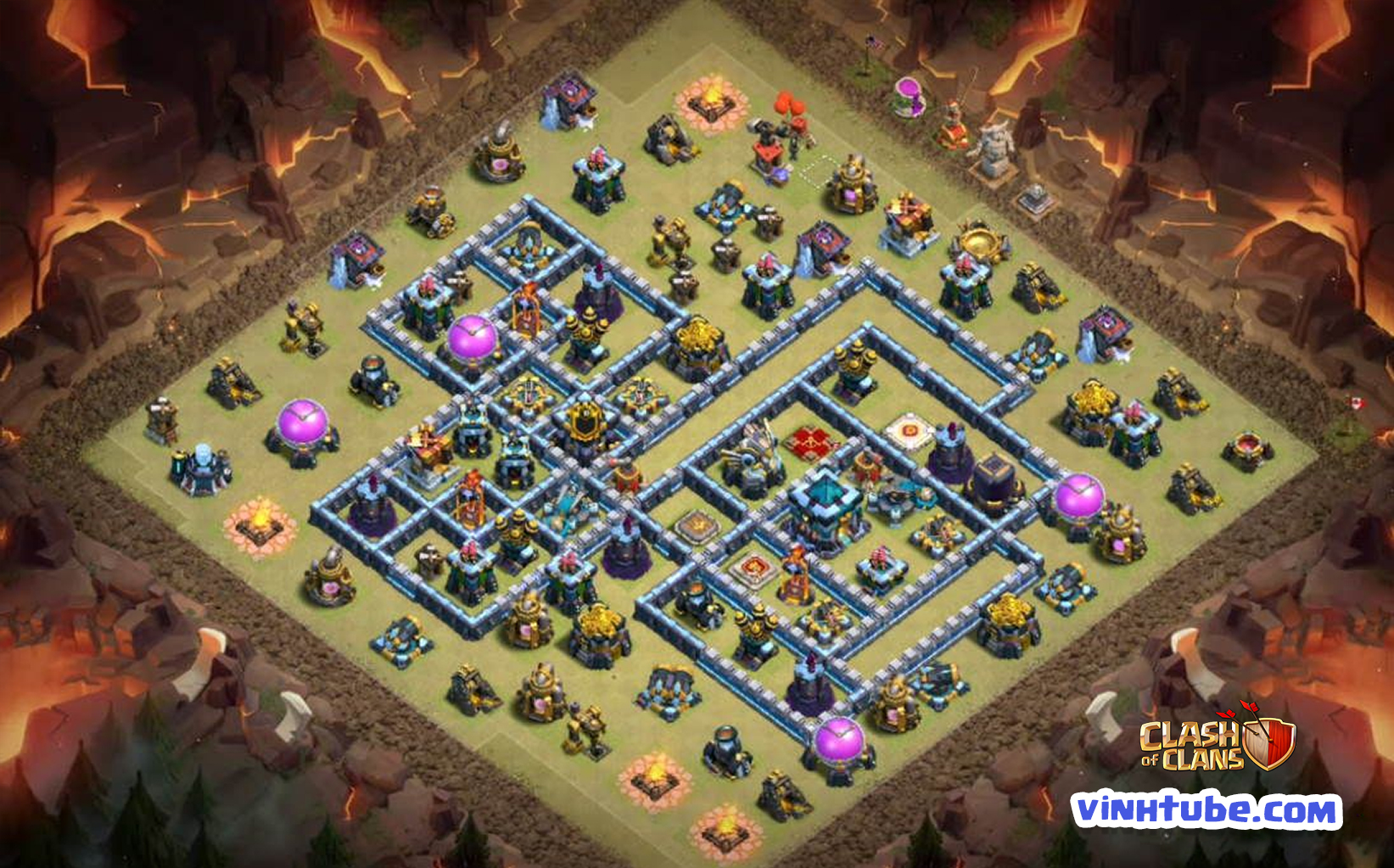 Base Hall 13 mới toanh Thủ WAR, LEAGUE LEGEND chống 3 sao | Clash of Clans