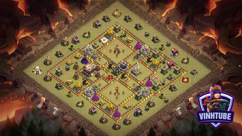 Base TH11 Thủ War League chống 3 sao hiệu quả 2020 | Clash of Clans