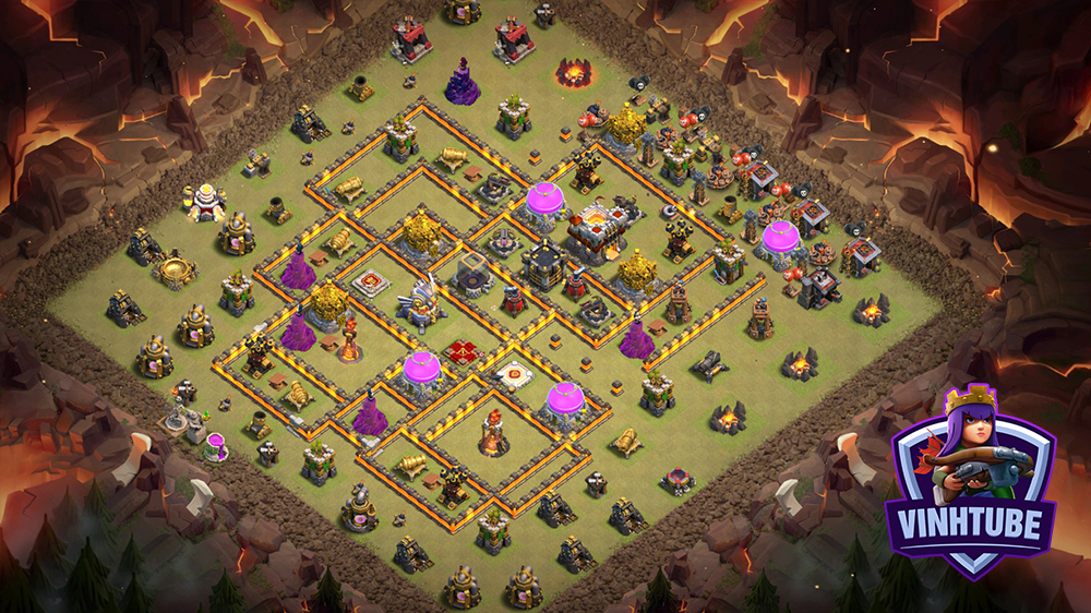 *Update Mẫu Base TH11 Thủ War, Bay Cup chống 3 sao | Clash of Clans