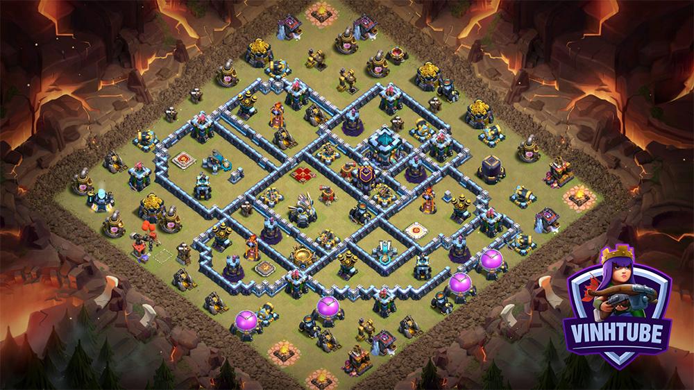 Base TH13 Thủ War Leo Rank Huyền Thoại 2020 | Clash of Clans