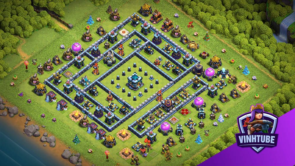 TH13 Base link Bay Cup Huyền Thoại – Thủ War | Best Base Link | Clash of Clans Base Link Copy
