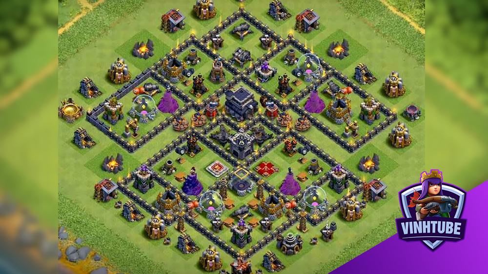 Mẫu Base TH9 War/Trophy/Thủ Tài Nguyên 2020 | Clash of Clans