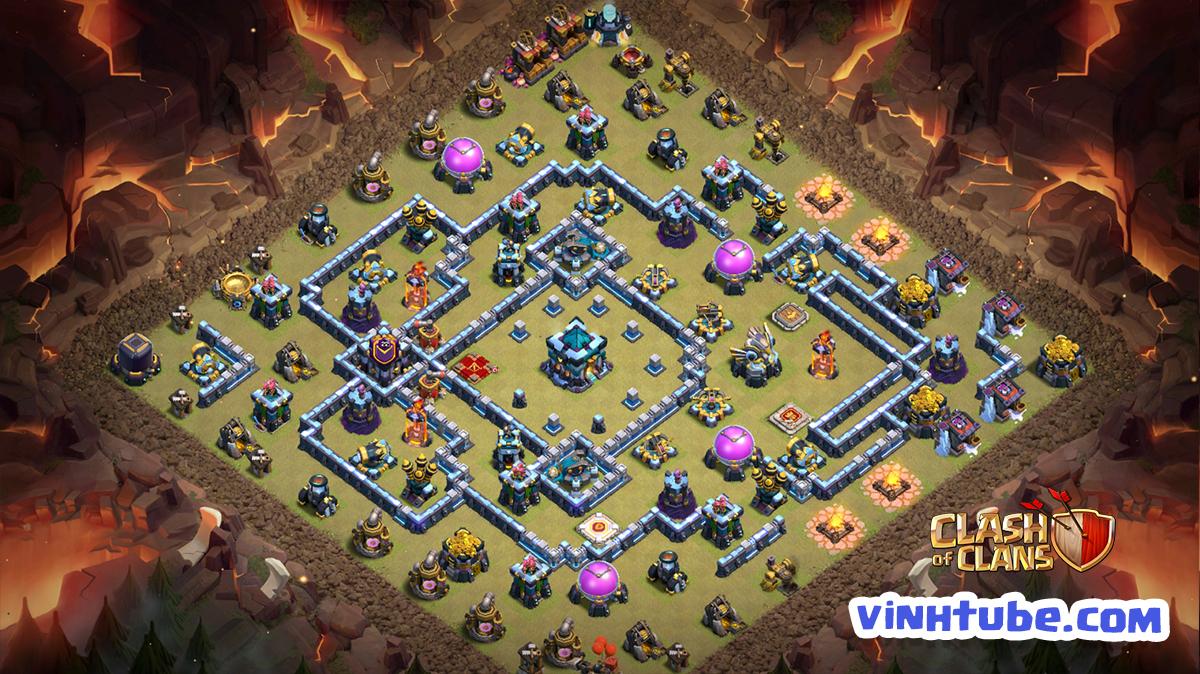 Update mẫu Base TH13 BAY CUP HUYỀN THOẠI cực hiệu quả | Clash of Clans