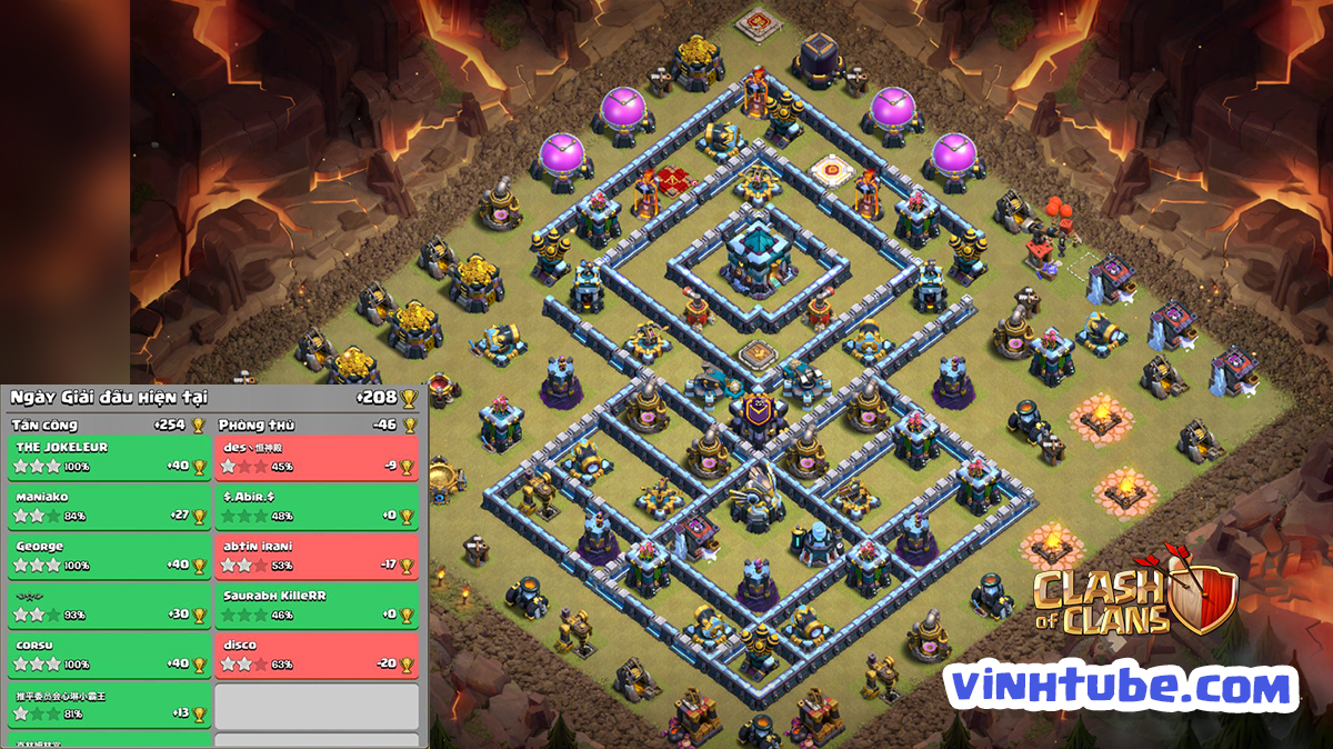 Update mẫu Base TH13 Thủ Rank Legend chống 3 sao cực tốt | Clash of Clans