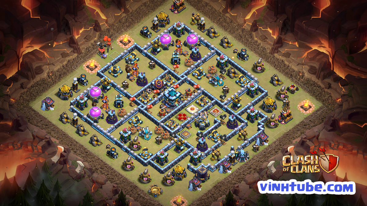 [New Update] BASE TH13 Bay Cup – Clan War League chống 3 sao hiệu quả | Clash of Clans