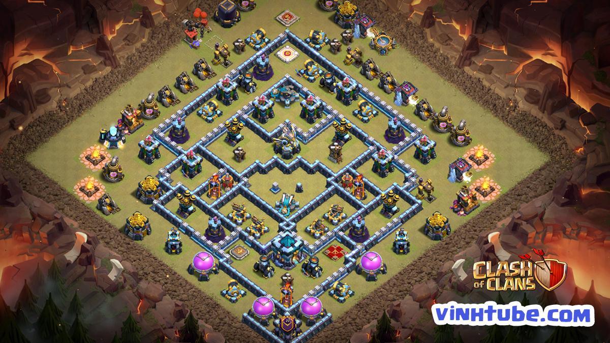 *New* Base TH13 thủ War siêu tốt – Bay cup Legend | Clash of Clans