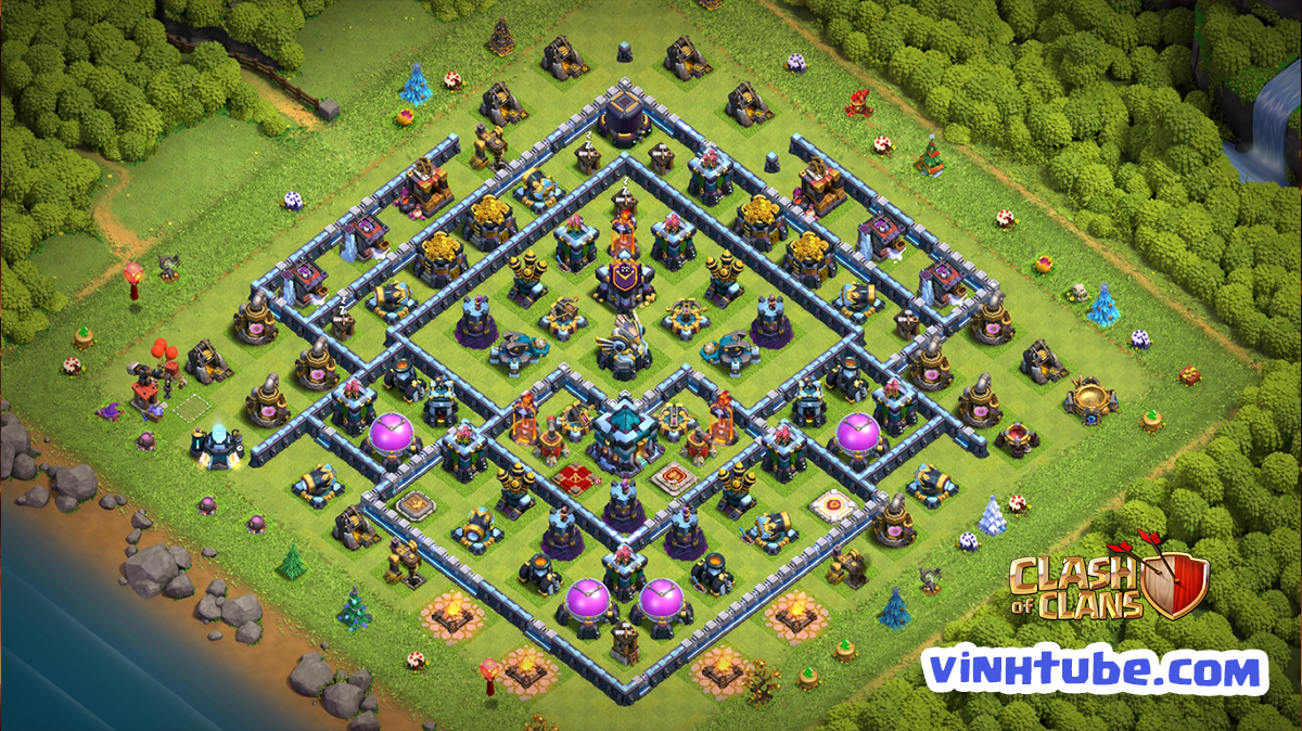 Update Base Link TH13 War League BAY CUP HUYỀN THOẠI | Clash of Clans