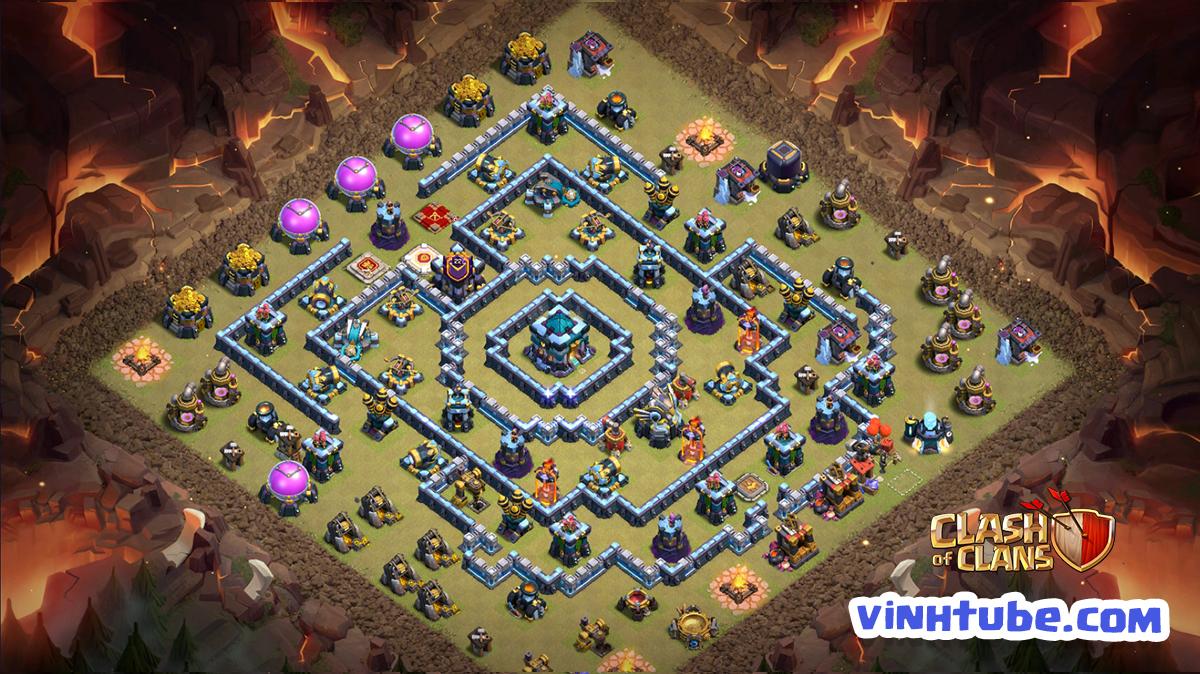 Base TH13 Anti 3 Star Clans War League | Clash of Clans