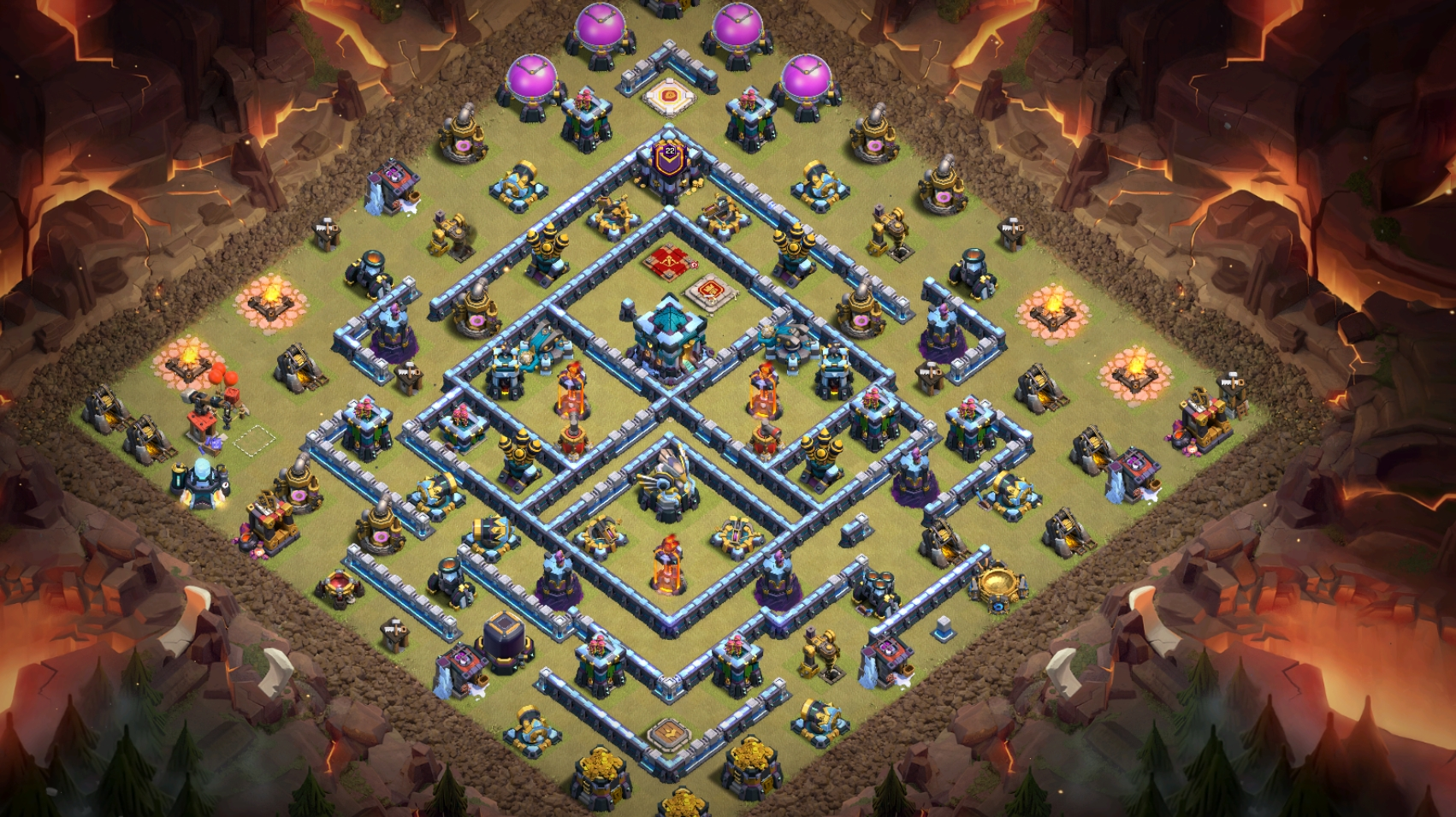 Chia sẻ Base TH13 chống 3 sao BAY CUP LEGEND CAO NGẤT NGƯỠNG | Clash of Clans