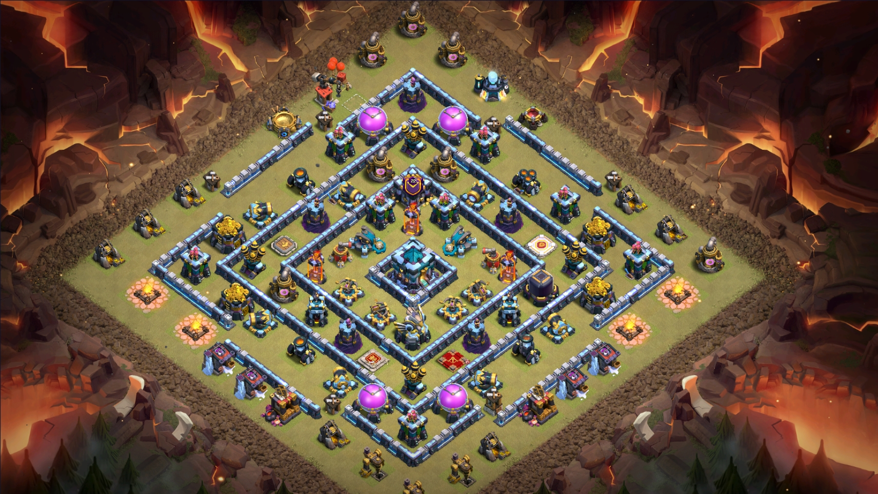 Mẫu Town Hall 13 War/Trophy/Clans War League chống 3 sao | Clash of Clans