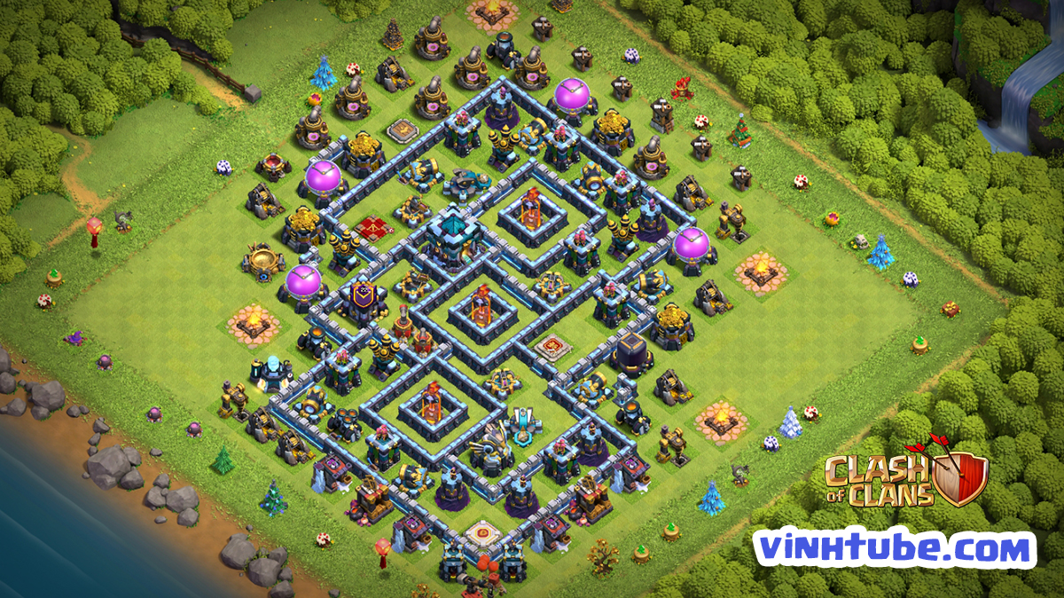 New Base TH13 Thủ War BAY CUP HUYỀN THOẠI | CLash of Clans