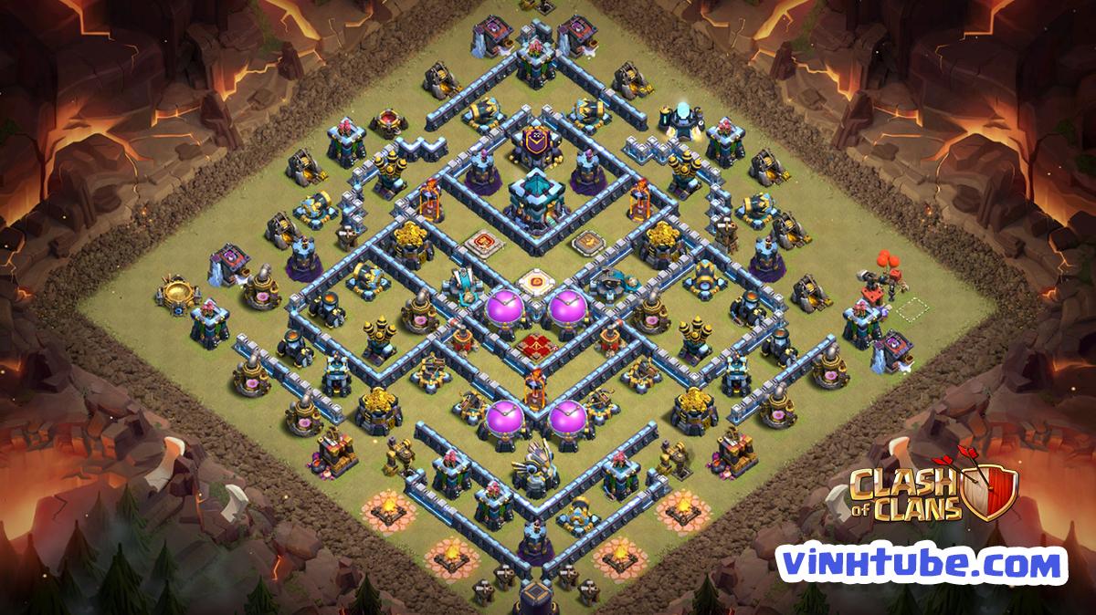 Cập nhật mẫu base TH13 Thủ War/Bay Cup Huyền Thoại chống 3 sao hiệu quả | Clash of Clans