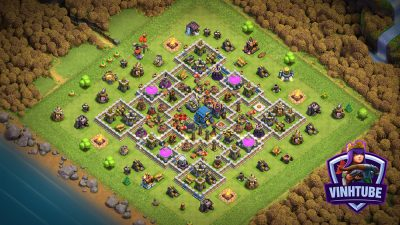 Base TH12 thủ tài nguyên/Leo Rank hiệu quả | Clash of Clans