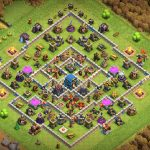 Base TH13 Thủ Clans War Leagues hiệu quả | Clash of Clans