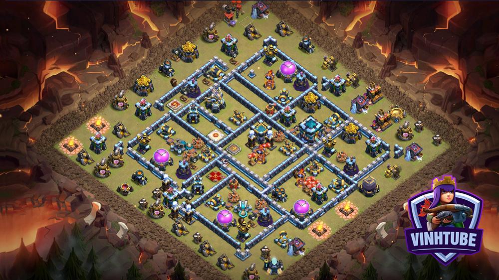 Copy mẫu Base TH13 thủ War/Bay Cup mới nhất | Clash of Clans | Copy link base