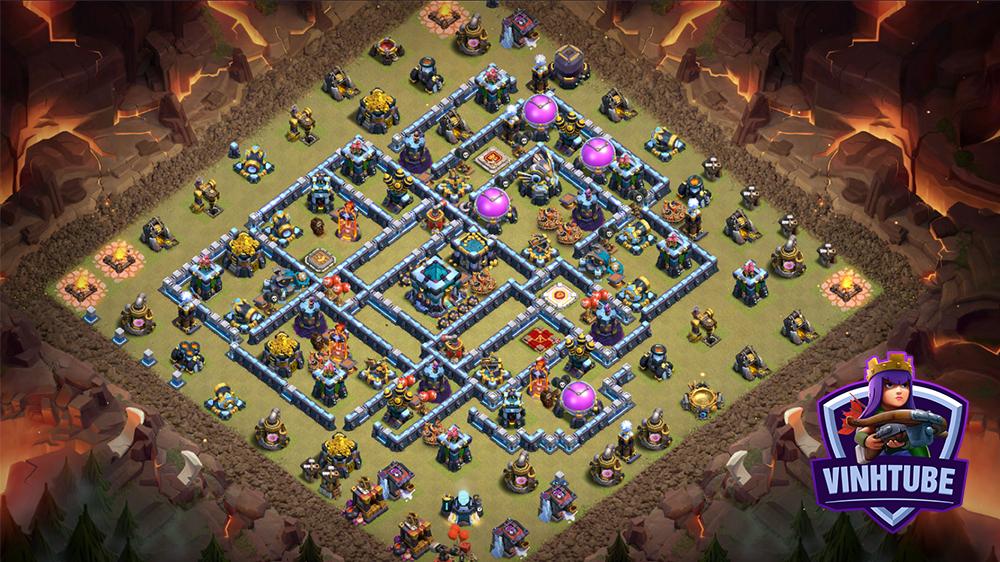 Base TH13 thủ War chống 3 sao mới nhất | Copy Base Link TH13 | Clash of Clans