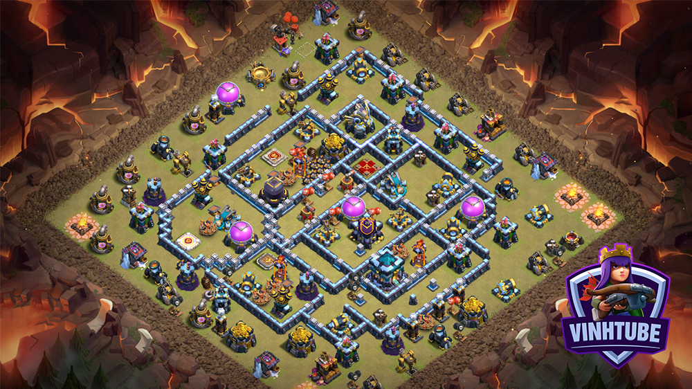 Copy Base Link TH13 Thủ War/Leo Rank | Clash of Clans