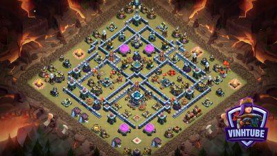 Base TH13 Chống Lính Bay dùng thủ War chống 3 sao cực tốt | Clash of Clans