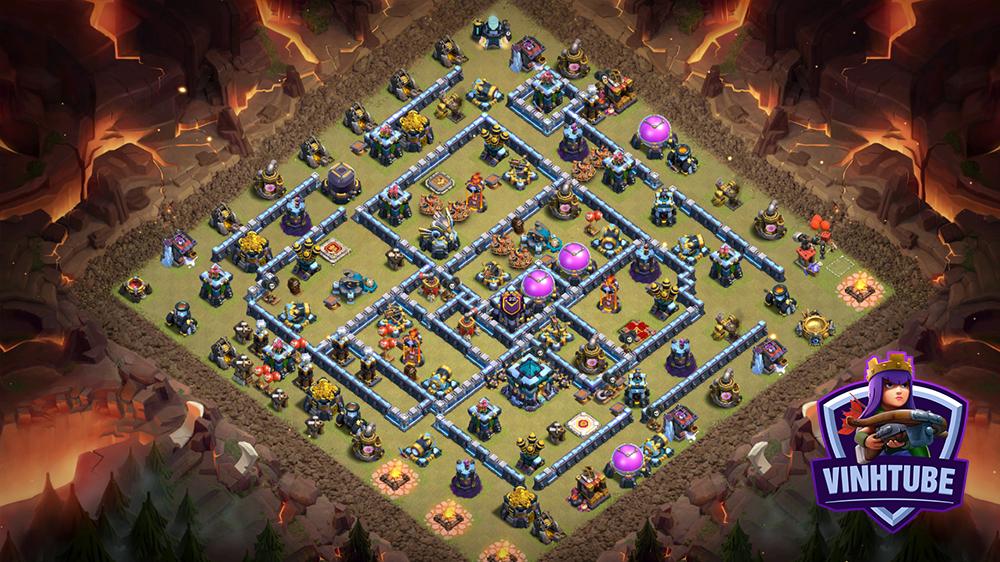 Base TH13 Thủ Clan War League Bay Cup chống 3 sao hiệu quả | Copy Base Link | Clash of Clans