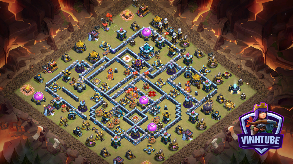 *New Base TH13 Thủ War/Bay Cup Huyền Thoại | Clash of Clans