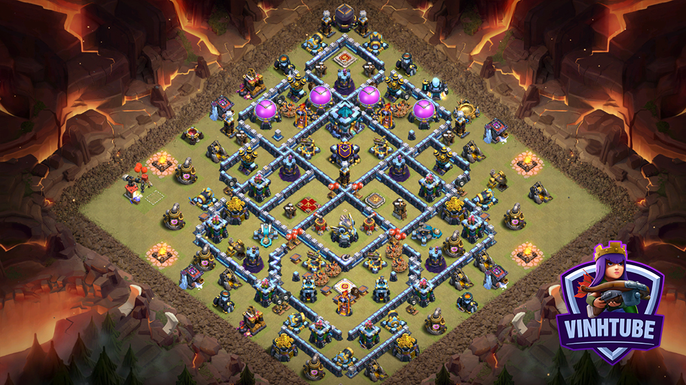BASE TH13 Thủ War/ Clans War League chống 3 sao hiệu quả | Clash of Clans
