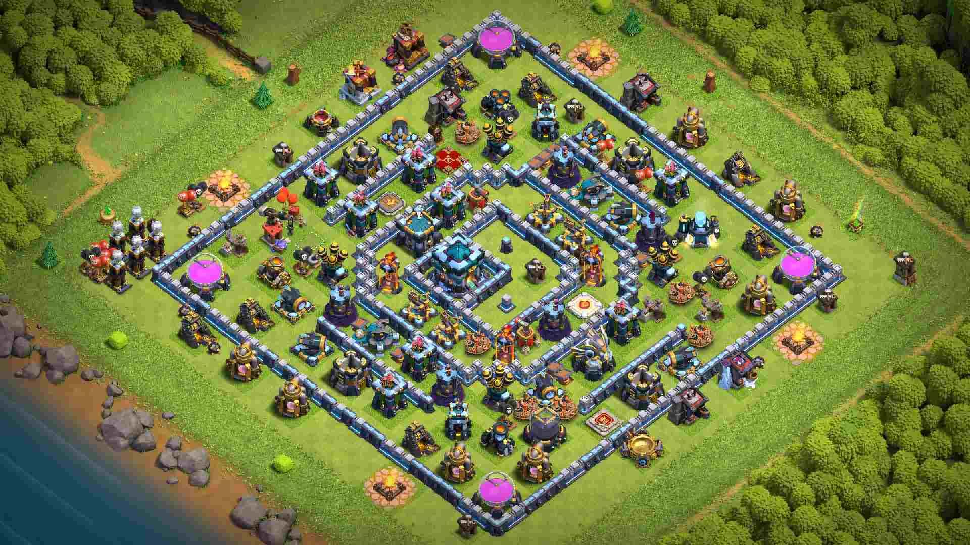 Base Th13 War/Bay cup Huyền Thoại | Clash of Clans