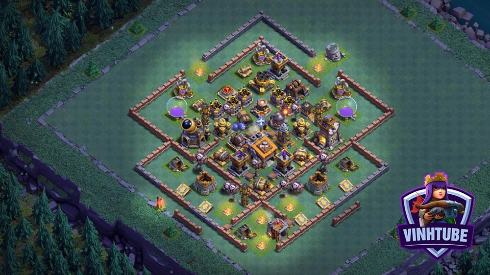 BH9 Builder Base Trophy 2020 | Copy Link nhà tối BH9 | Clash of Clans