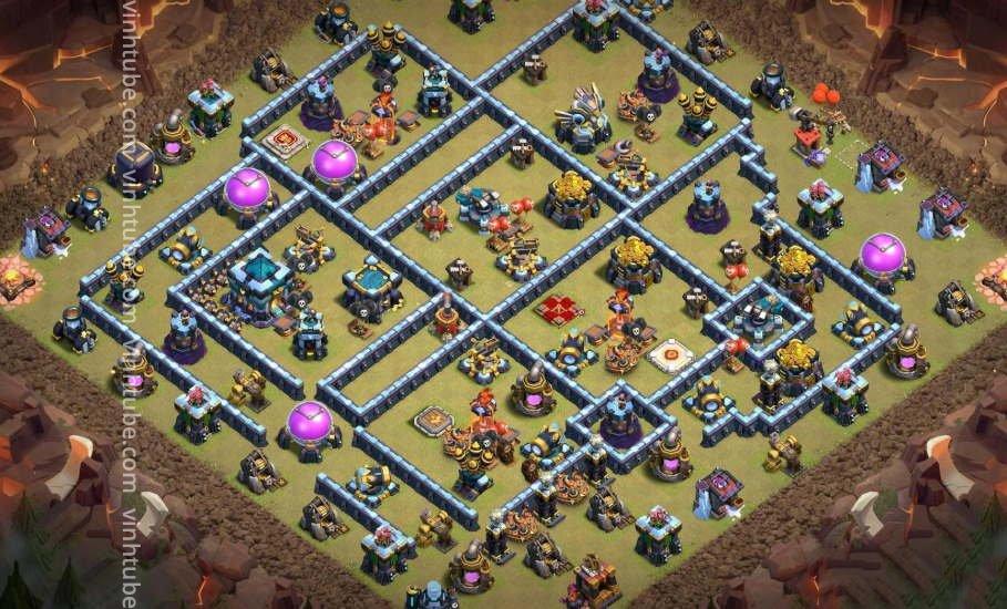Update mẫu base chiến War cấp độ TH13 mới nhất 2021   Clash of Clans 2021