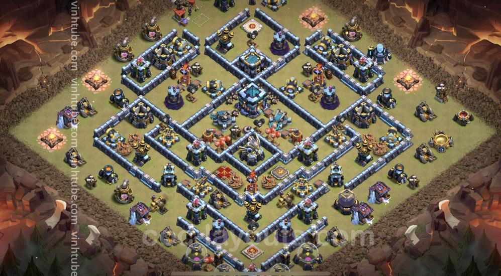 Cập nhật Mẫu Base TH13 CWL/War siêu bền | Clash of Clans Base Link