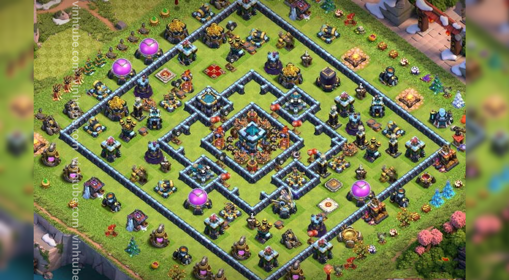 Ring Base TH13 New Update CWL/War/Trophy 2021   Clash of Clans 2021