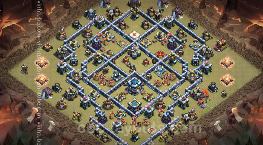Top War Base TH13 with Link – Anti 2 Stars Plan 2021 – Clash of Clans – Base