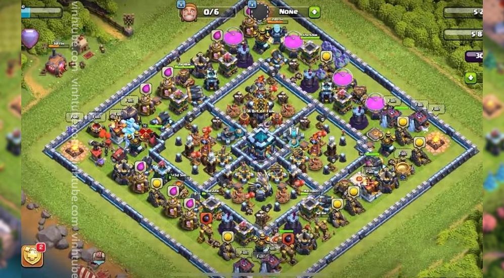 Mẫu siêu base TH13 thủ War/bay cúp/Farm cực tốt | Clash of Clans base link 2021