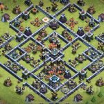 Base TH13 War/Trophy Legend Anti 3 Star | Base Thủ War/Bay Cup chống 3 sao | Clash of Clans