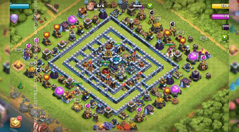 Ring Base TH13 thủ war/bay cup chống 3 sao hiệu quả | Clash of clans base link update 2021