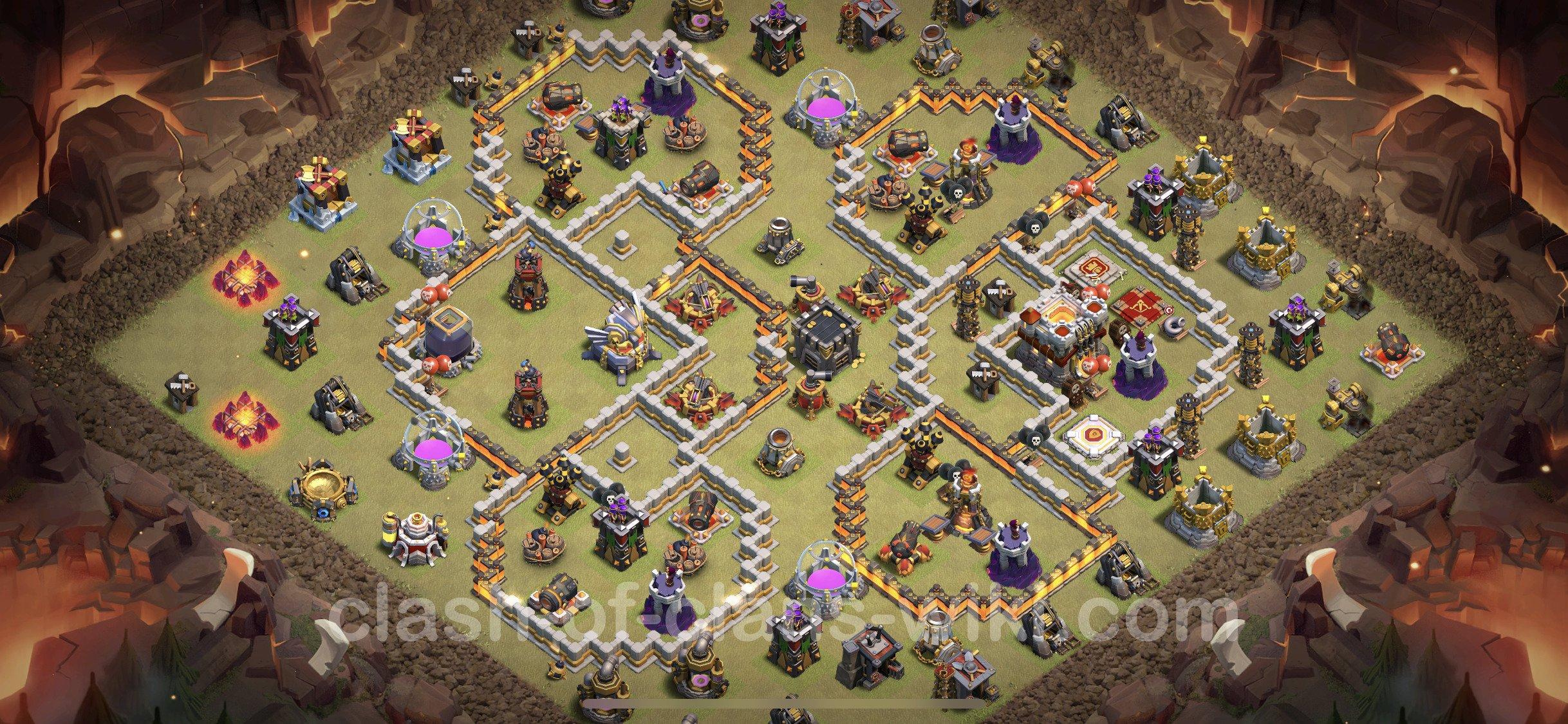 Cập nhật mẫu base TH11 thủ War mới nhất 2021 | Clash of Clans 2021 base link TH11