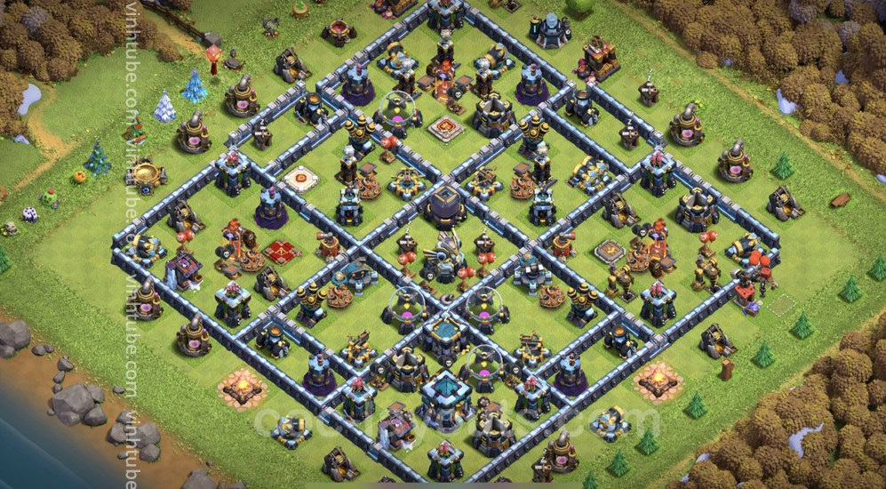 Farming Base TH13 with Link – plan / layout / design – Clash of Clans 2021 – Base
