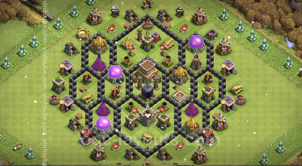 Farming Base TH8 Max Levels with Link – plan / layout / design – Clash of Clans 2021 – Base