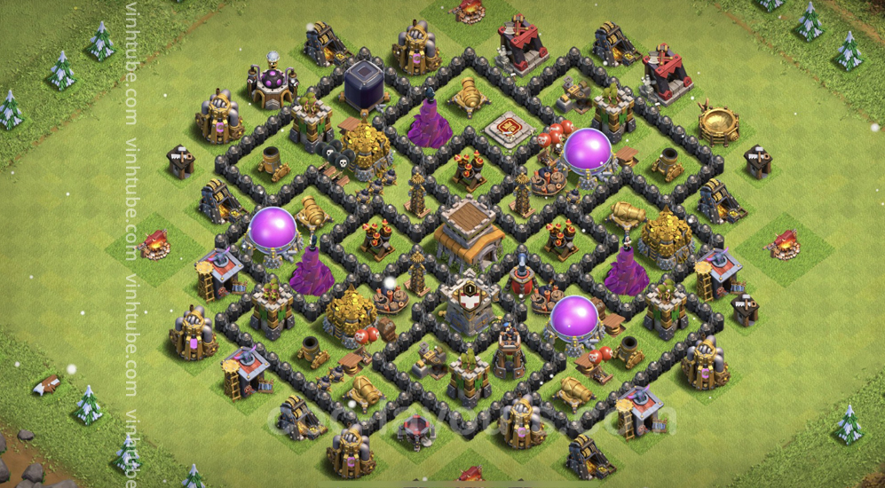 Anti 2 Stars Base TH8 with Link – best plan / layout / design – Clash of Clans 2021 –  Base