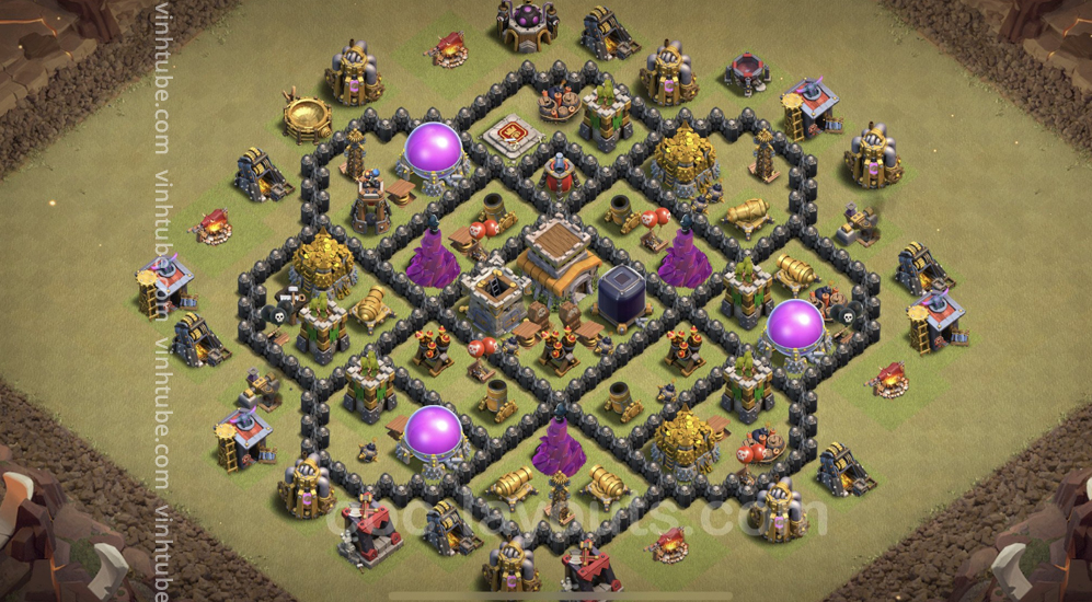 Top War Base TH8 with Link – Anti 2 Stars Plan 2021 – Clash of Clans – Base