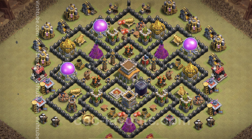 Top War Base TH8 with Link – Anti 3 Stars Plan 2021 – Clash of Clans – Base