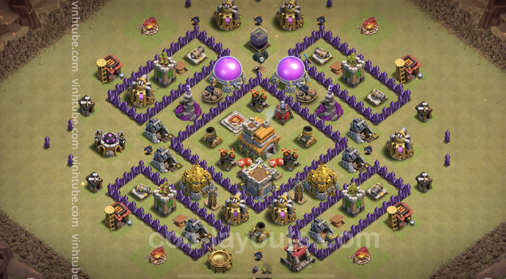 Top War Base TH7 with Link – Defence Plan 2021 – Clash of Clans – Base