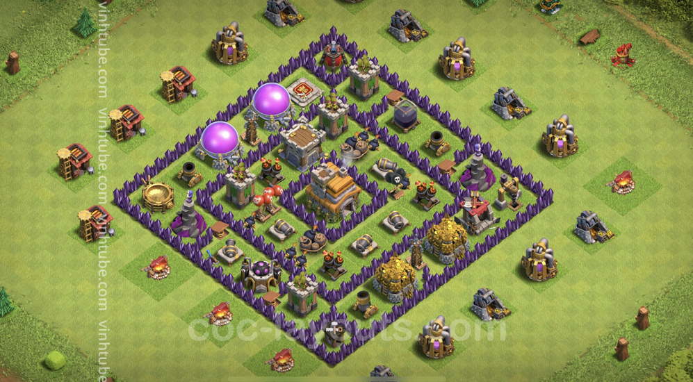 Anti 3 Stars Base TH7 with Link – best plan / layout / design – Clash of Clans 2021 – Base