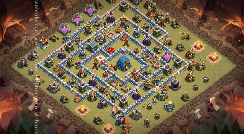 Strong War Ring Base TH12 New Update 2021 | Clash of clans Ring base TH12 base