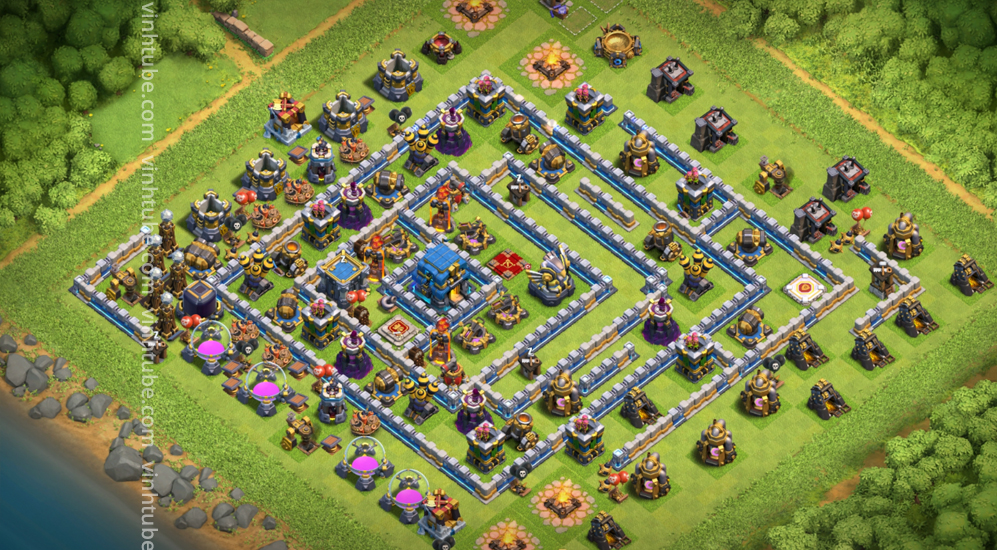 Base TH12 Strong War/Trophy 2021 base
