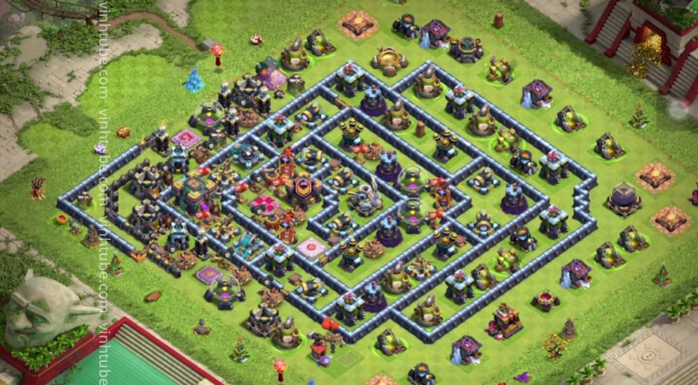 New BASE TH14 BAY CÚP HUYỀN THOẠI 5k6 MỚI NHẤT | TH14 Clash of clans Base